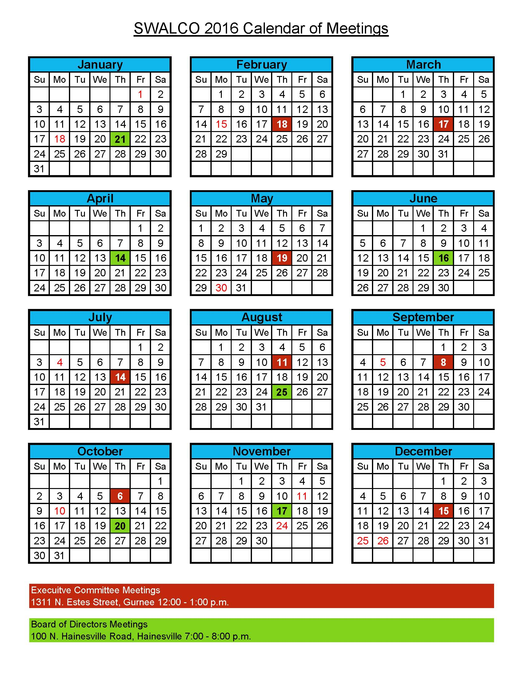 Approved 2016_SwalcoCalendar_Meetings