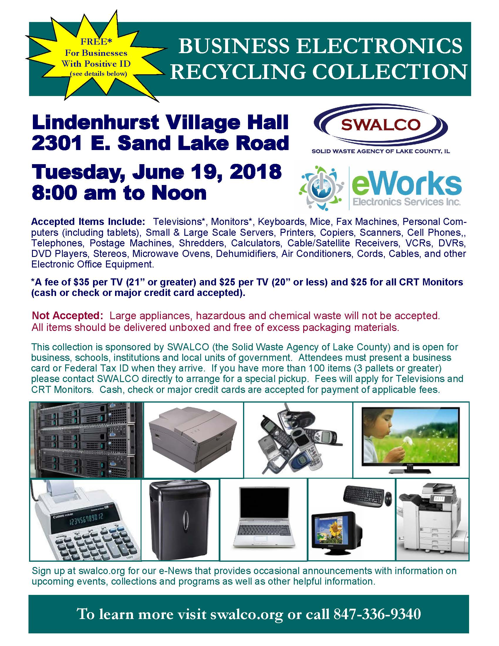 Electronics E-Works Village of Lindenhurst June 19 2018