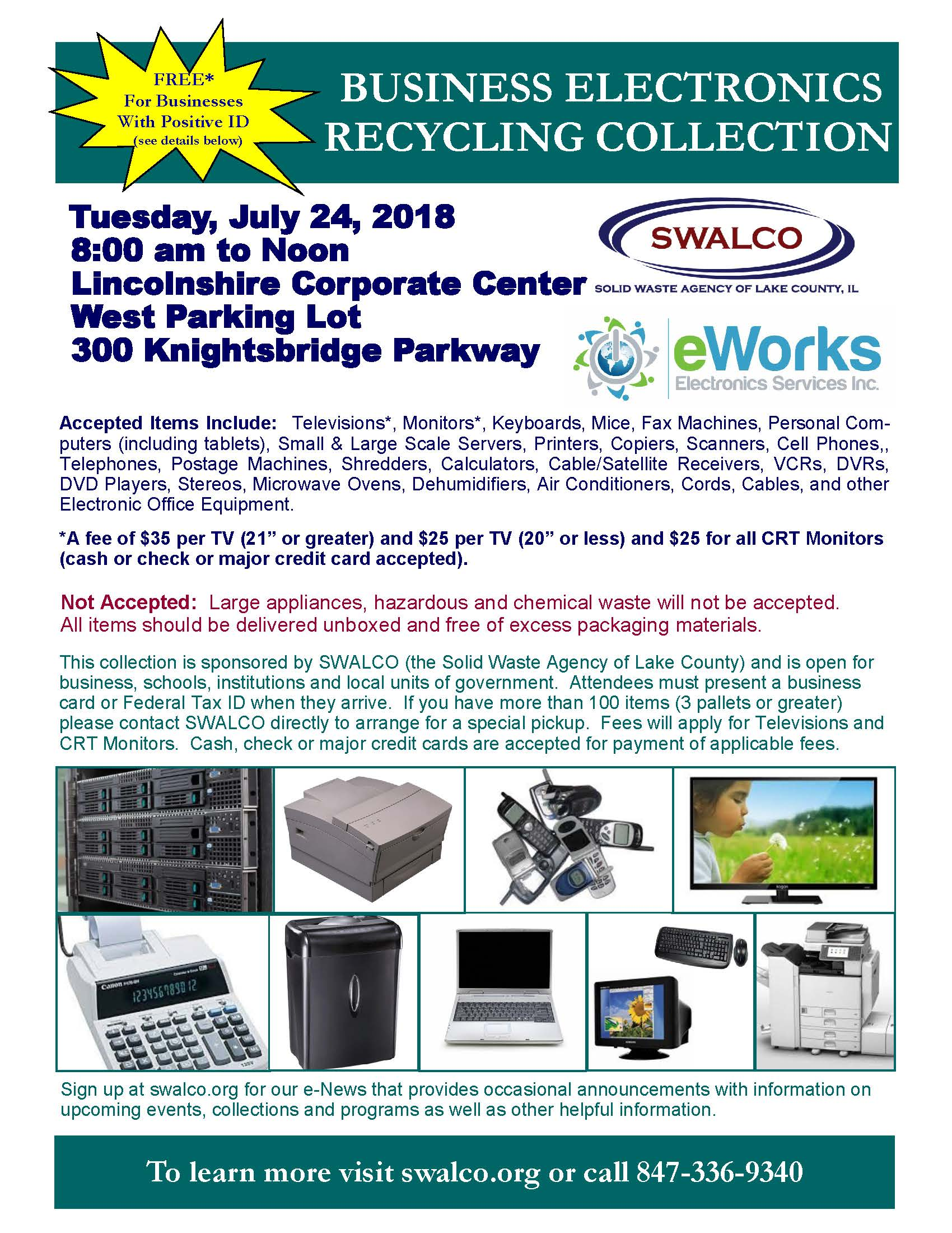 Electronics E-Works Village of Lincolnshire July 24, 2018