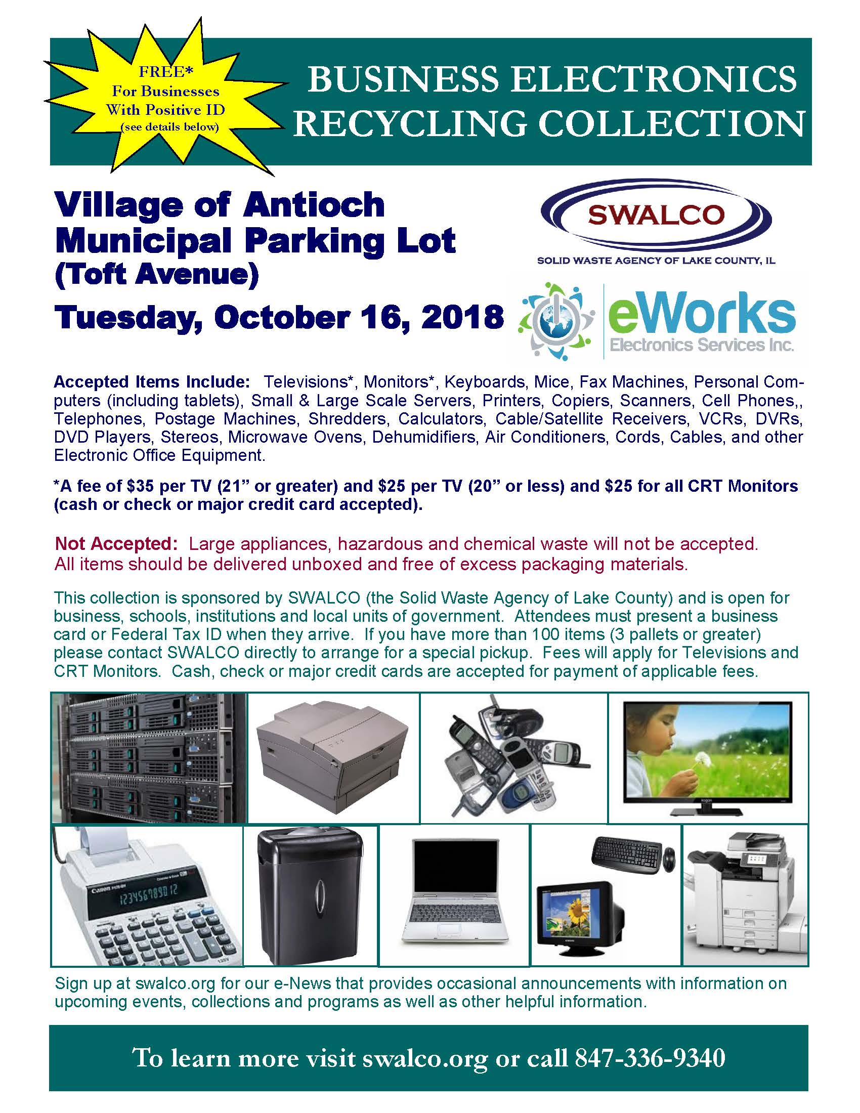 Electronics E-Works Village of Antioch, October 16 2018