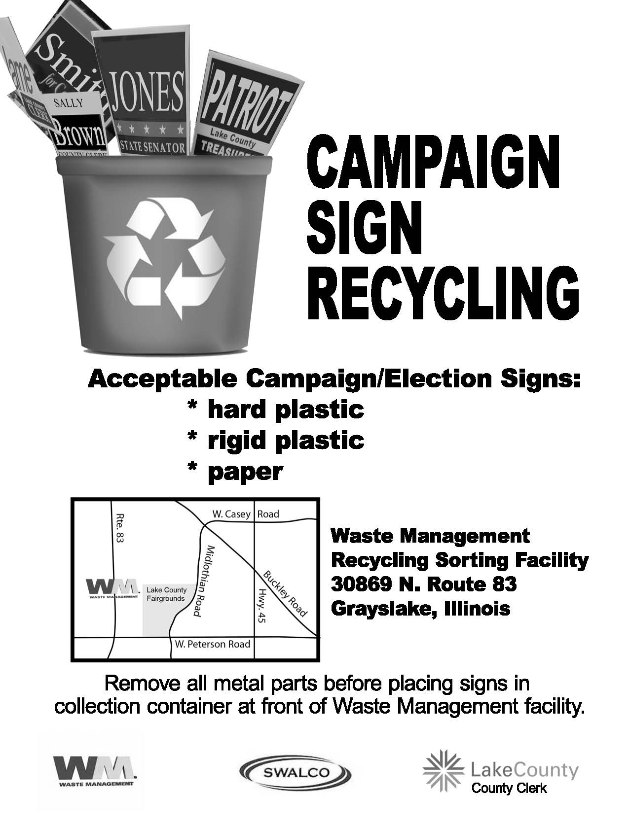 Recycle poster BW