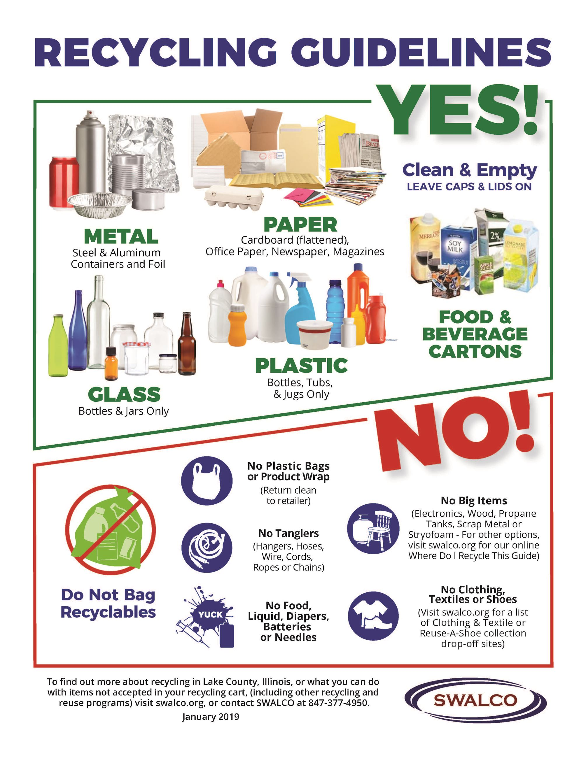 Recycling Guidelines | Lake County SWALCO, IL