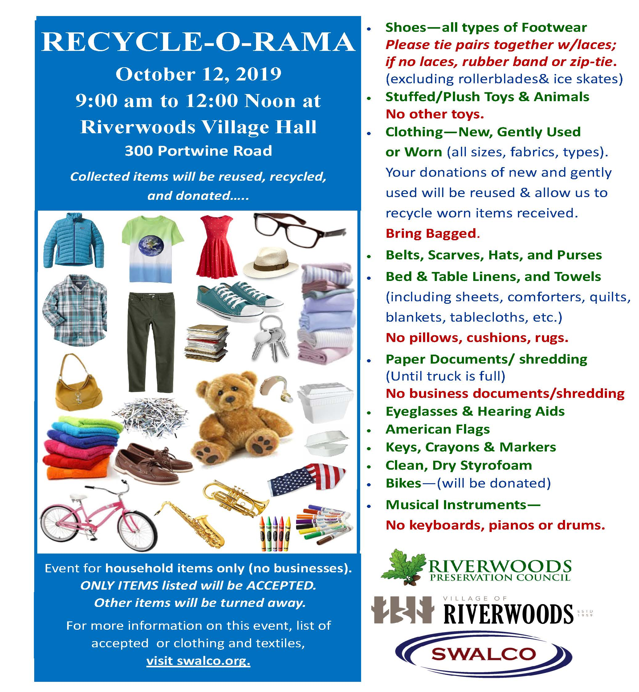 Recycle-O-Rama Village of Riverwoods and SWALCO October 2019