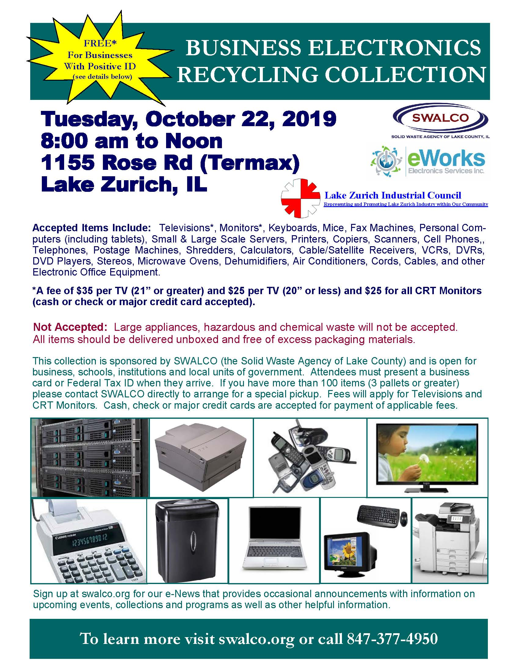 Electronics E-Works Termax Lake Zurich Oct 22, 2019