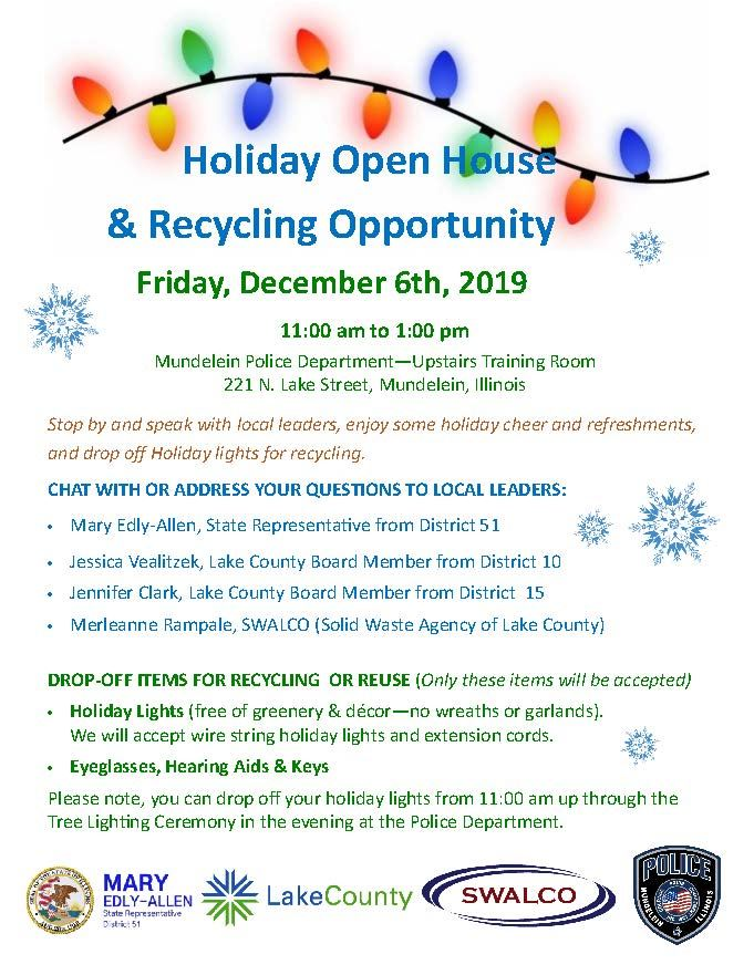 Holiday Open House & Recycling 2019