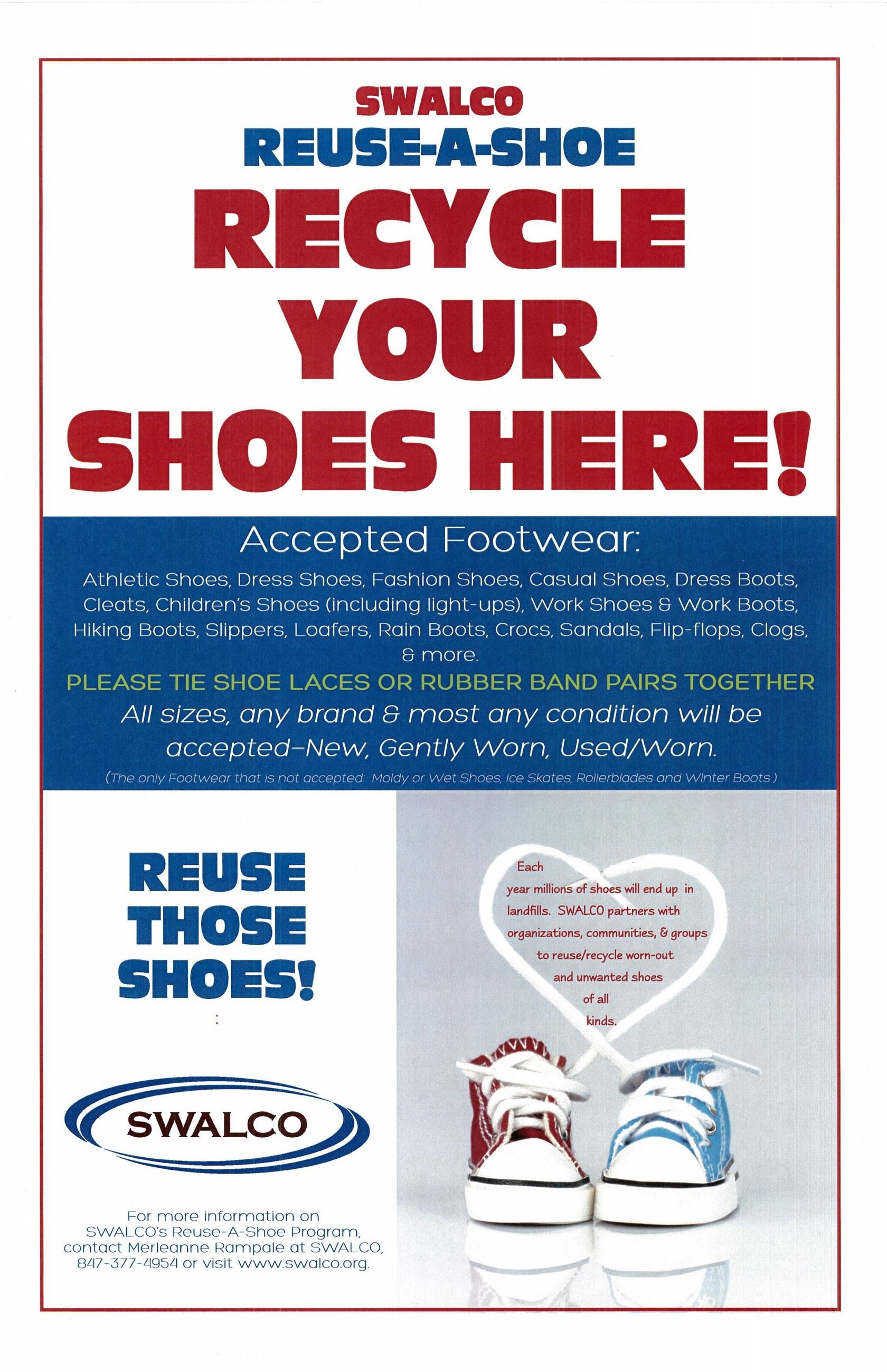 Reuse-A-Shoe Flyer